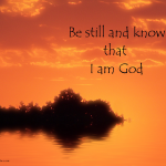 Know That I Am God
