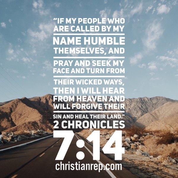 God will heal America 2 Chronicles 7.14