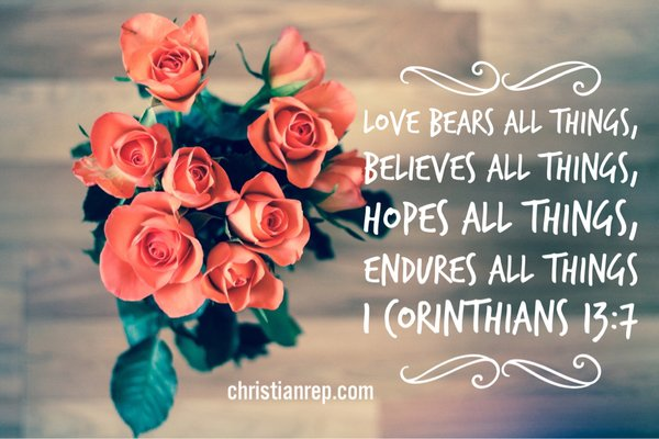 love endures all even a cruel cross 1 corinthians 13.7