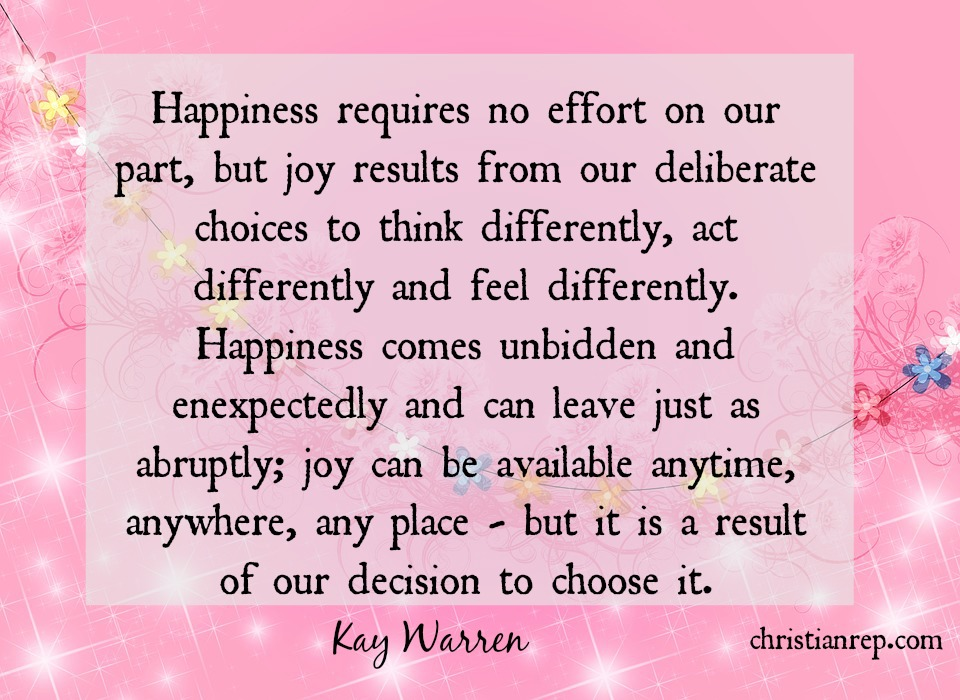 Joy is a Condition of my Heart